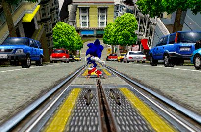 morebuildingsandfood: Central City from Sonic Adventure 2 Battle, by Sega.