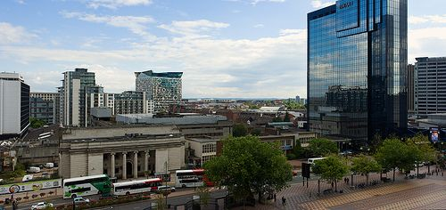 Looking towards the Cube from the Library of Birmingham ...