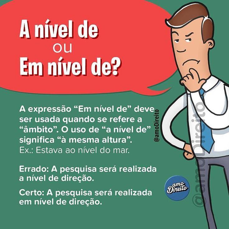 """1,685 curtidas, 7 comentários - amo Direito® (@amodireito) no Instagram: """" Ótima dica de português para marcar os amigos e nunca mais errar! ___ Siga-nos nas redes: ️…"""""""