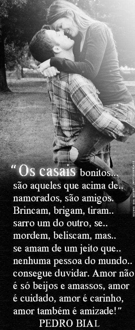 """""""Amor não é só beijos e amasso, amor é cuidado, amor é carinho, amor também é amizade!"""" https://www.pinterest.com/dossantos0445/o-melhor-de-mim/"""
