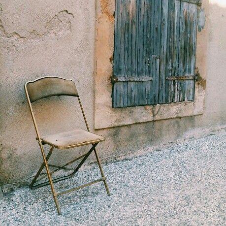 single golden chair
