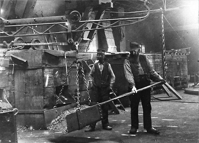 Hyttgubbar i Masugnskransen ca.1880. Nykroppa.