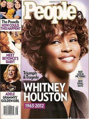 People Magazine,Whitney Houston 1963-2012 ,Beyonce, Adele, February 2012,~NEW