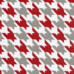 red gray houndstooth