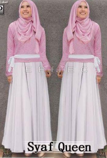 Syafira Queen Set (Maxi Dress + Pashmina) Bahan Spandek     Fit L     Harga : Rp. 107.000,-/set     Kode Produk / Product Code : M4581