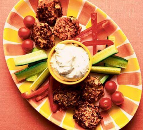 Chicken & sweetcorn rissoles