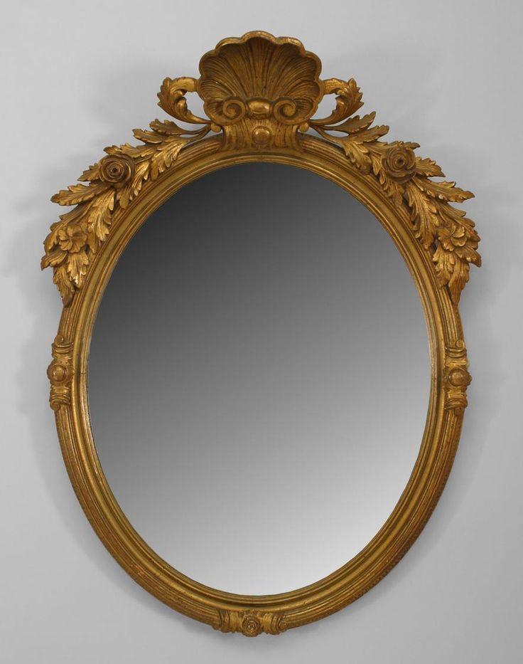 French Victorian Mirror Wall Mirror Gilt Victorian
