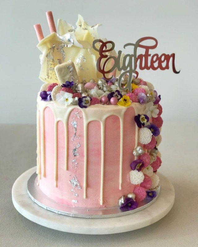 18 Cake topper 18th Eighteen Birthday Cake Decor in ROSE GOLD  Mirror Acrylic.