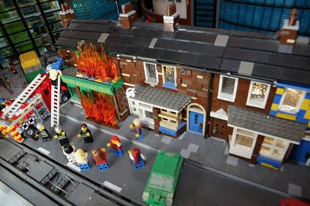 Coronation Street's Rovers Return fire recreated at Legoland