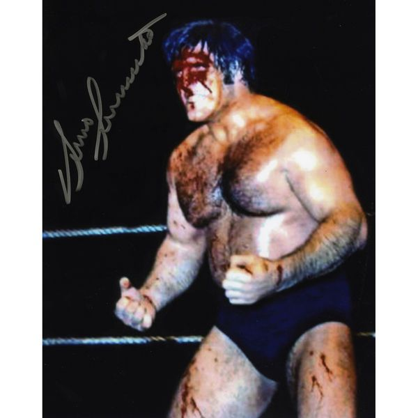 "Bruno Sammartino Fanatics Authentic Autographed 8"" x 10"" Blood Photograph - $19.99"