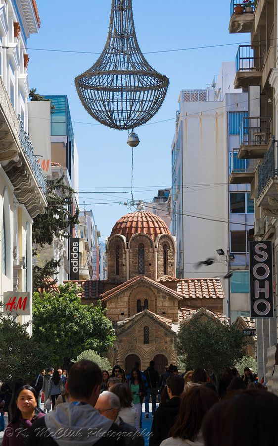 The Church of Panaghia Kapnikarea is a Greek Orthodox church and one of the oldest churches in Athens.  by Kevin McClish