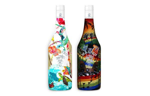 Awesome Malibu Bottles, By U - Malibu Rum Stage