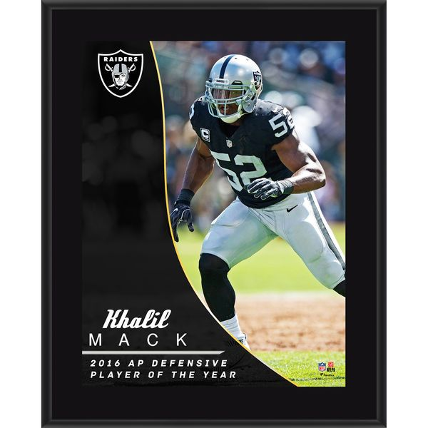 """Khalil Mack Oakland Raiders Fanatics Authentic 10.5"""" x 13"""" NFL Honors 2016 Defensive Player of the Year Sublimated Plaque - $29.99"""