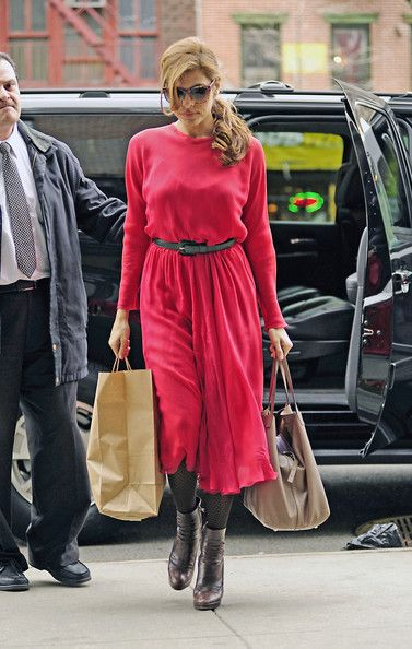 Eva Mendes Day Dress - Eva Mendes Clothes - StyleBistro