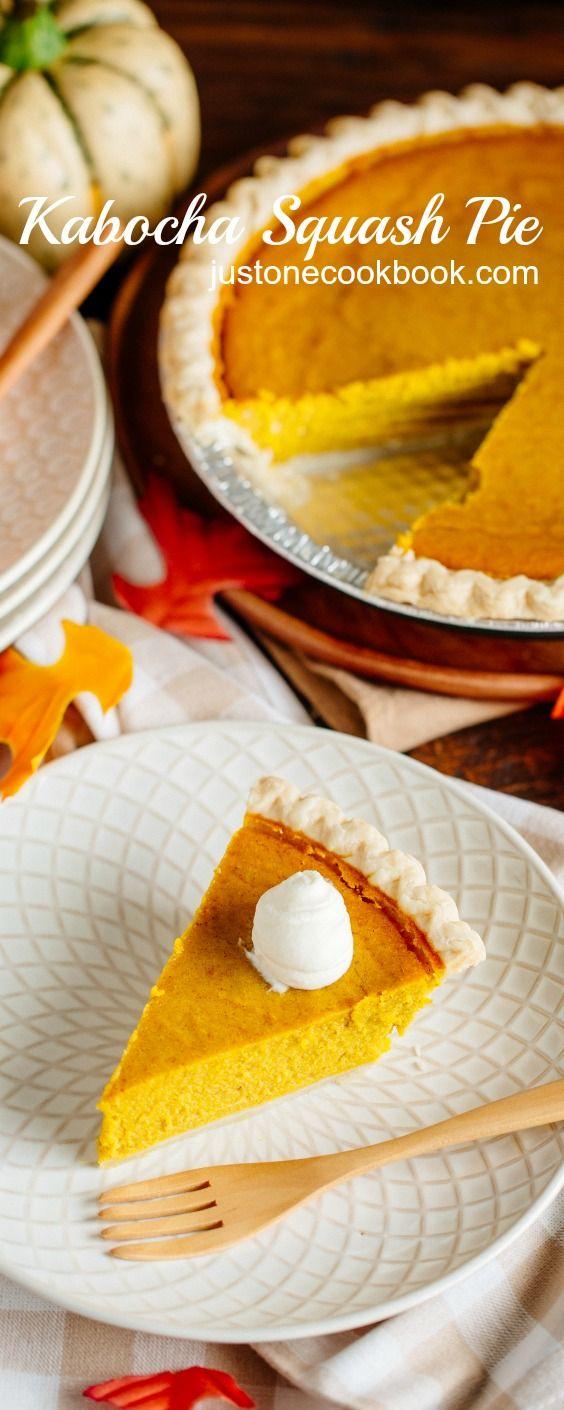 Rich & creamy Kabocha Squash Pie | Easy Japanese Recipes at