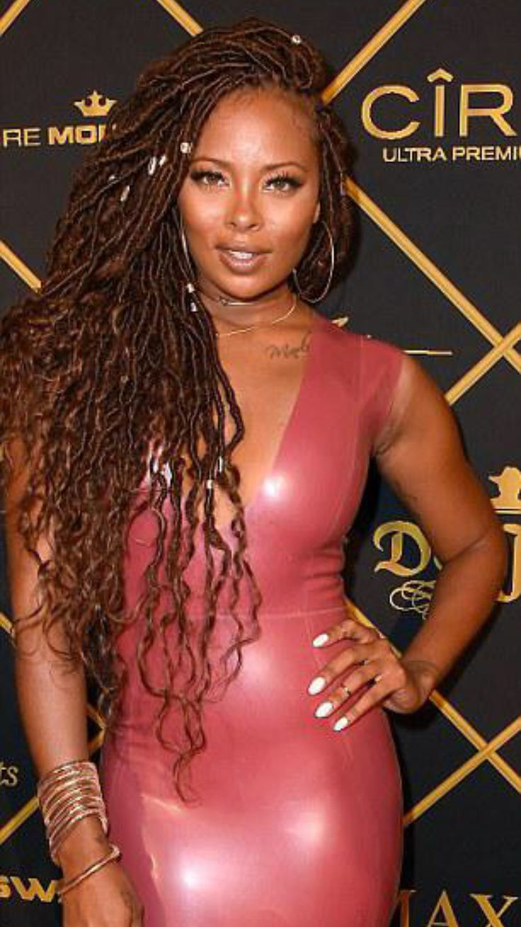 Eva Marcille Rocking Gorgeous Long Faux Goddess Locs