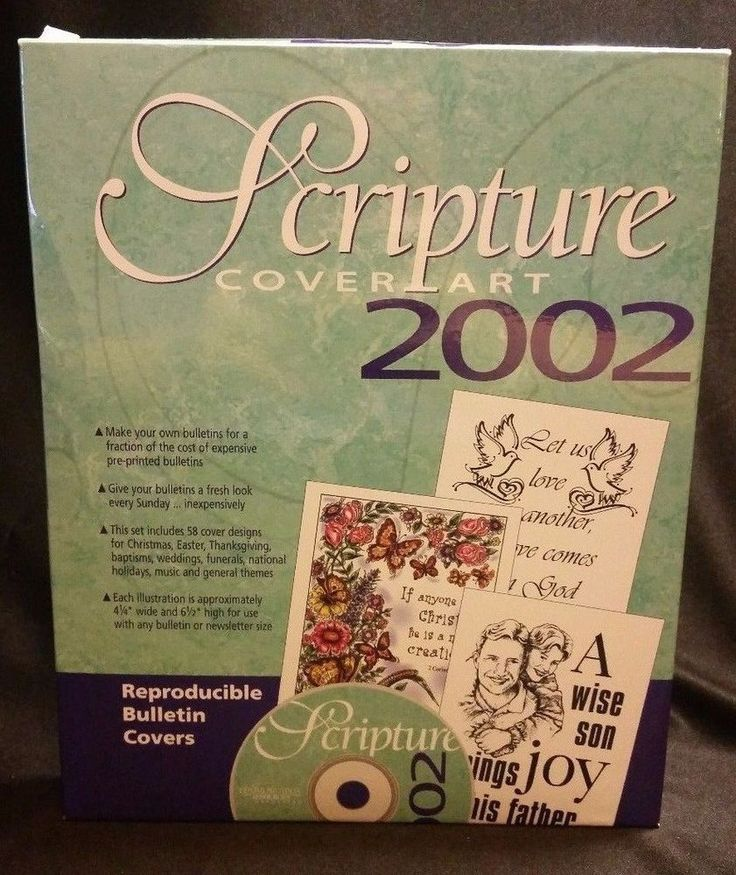 Scripture Cover Art 2002 PC CD-ROM Bulletin Covers Christian Graphics Customize #CommunicationResourcesInc