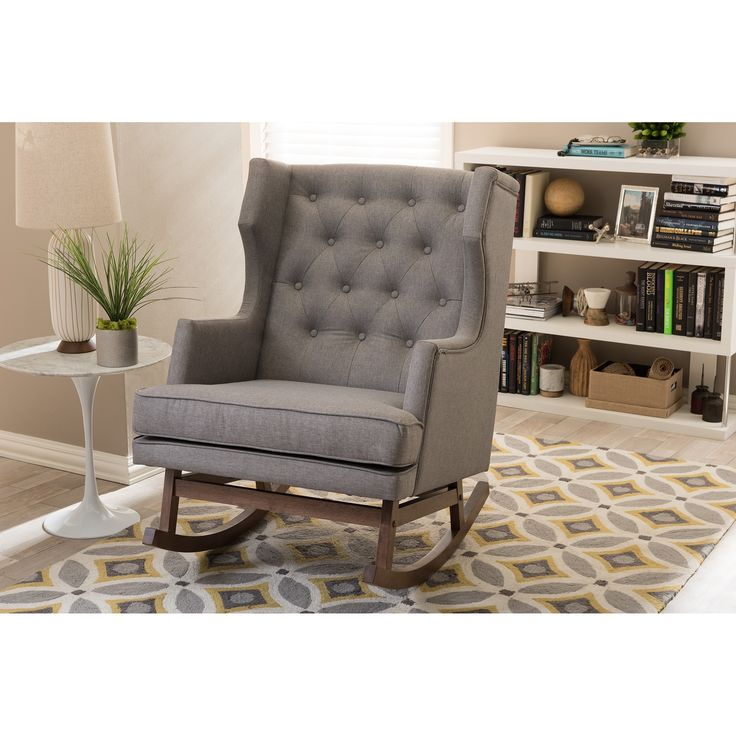 modern chairs for living room%0A Contemporary rocking chair with modern design adds elegance and comfort  into your residence