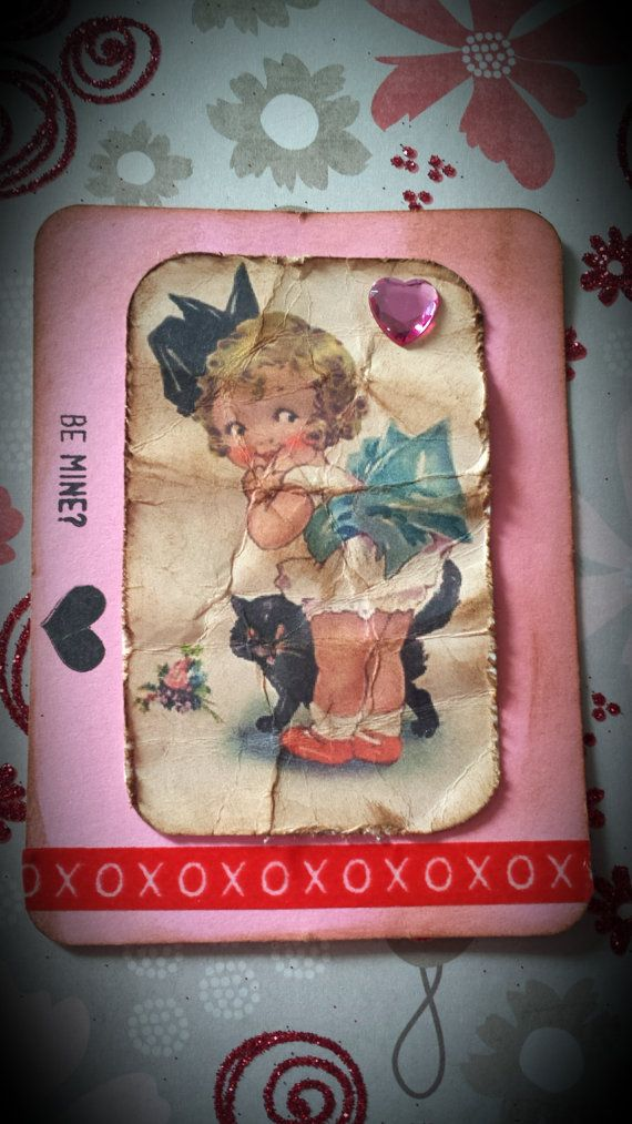 For your Project Life  OOAK  Valentine Be Mine Card by GenesisLady, $2.99