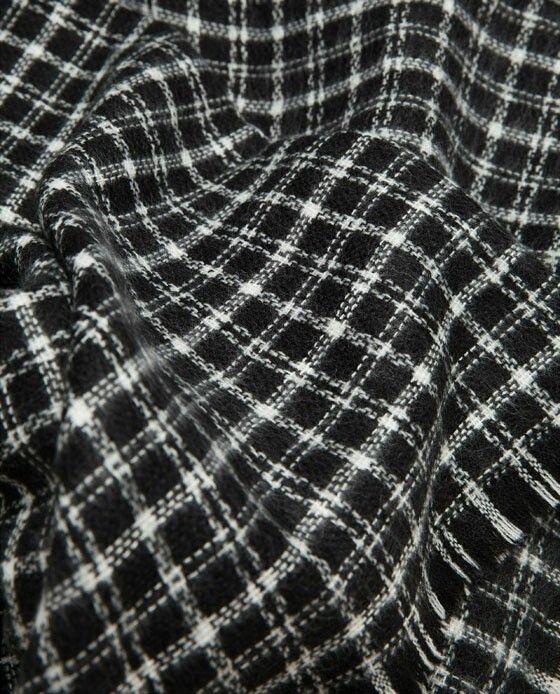 Check Scarf by Zara. Black Check Scarf.