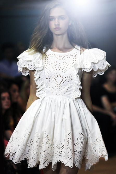 :: eyelet :: lace dress Chloe Sevigny for Opening Ceremony