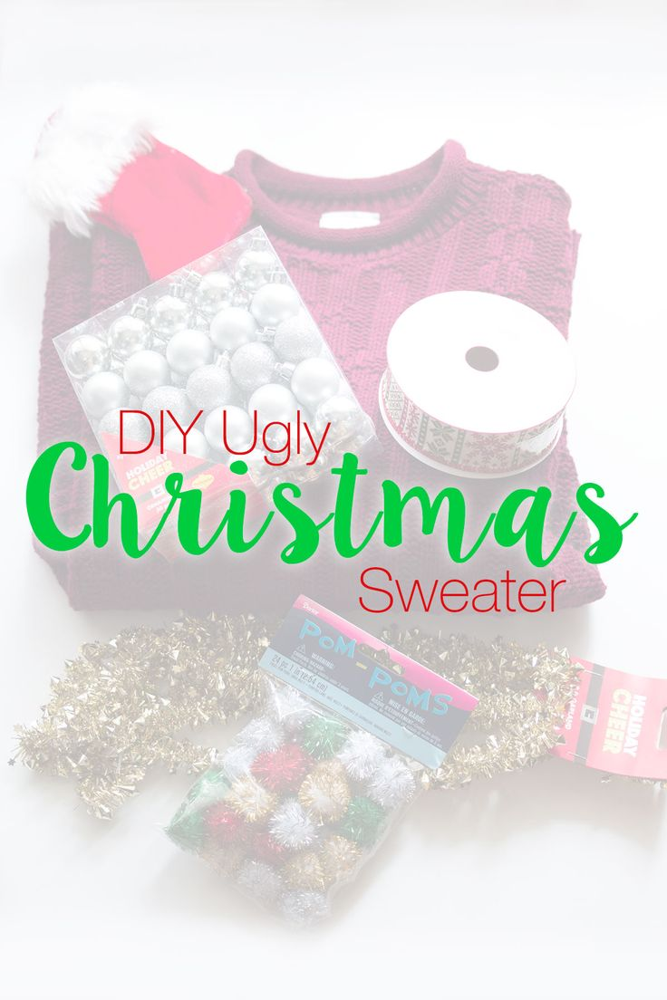 Happy National Ugly Sweater Day! Follow this easy DIY Ugly Christmas Sweater Sewing Project for a fun idea to celebrate this silly holiday! // hellorigby.com seattle fashion blog
