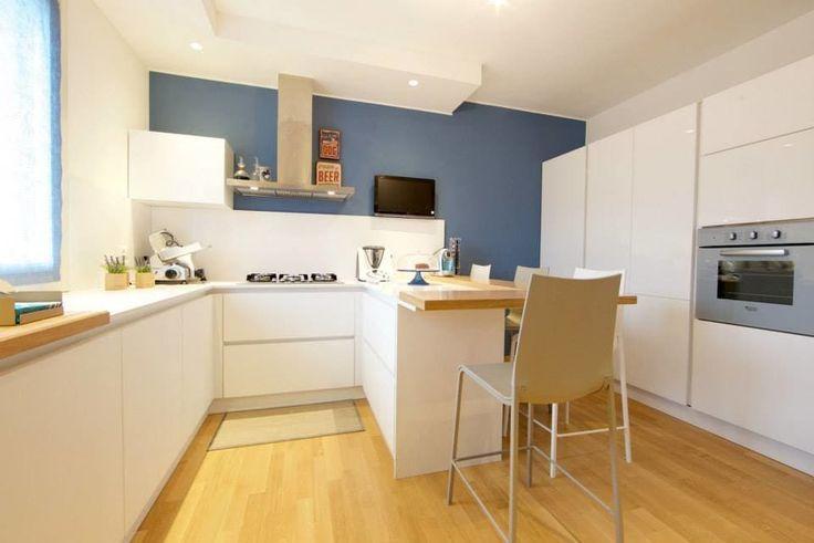 Foto di cucina in stile in stile moderno : prospettiva cucina con penisola | homify