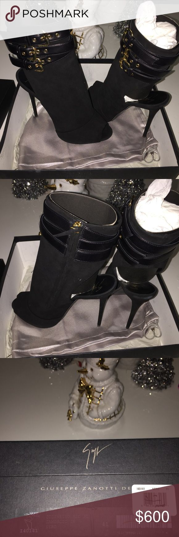 GIUSEPPE ZANOTTI DESIGN  buckle detail booties Brand new with box and dust bag size on box says 41 Giuseppe Zanotti Shoes Ankle Boots & Booties