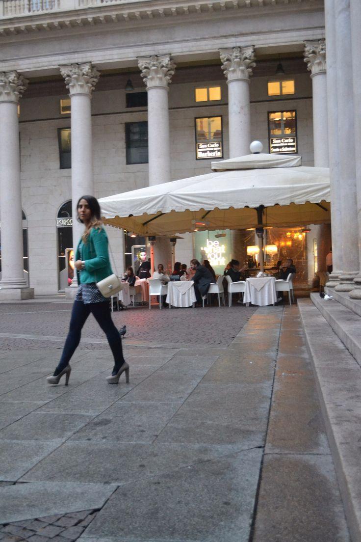 Waling in Milan, breathing fashion