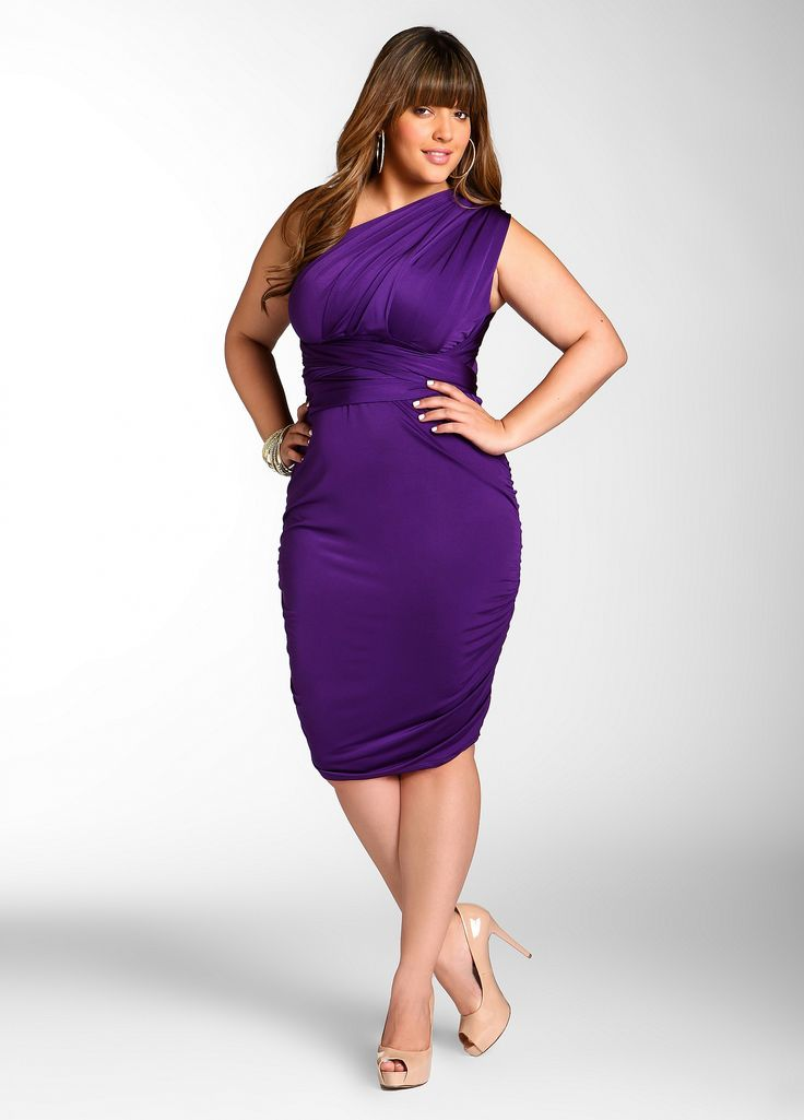 I've got a summer wedding to attend. This would suit my figure nicely.  Ashley Stewart: Web Exclusive:10 Way Shirred Dress
