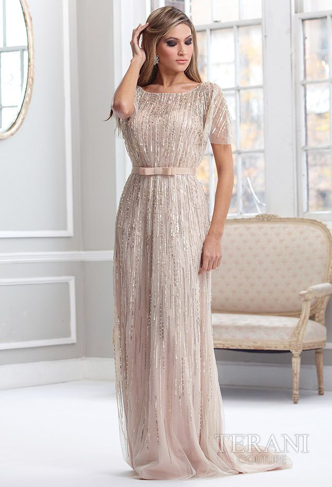 Terani Couture - Mother of the Bride Dress.  #Cream/Nude #Mother'sDay #Celebstylewed. @Celebstylewed