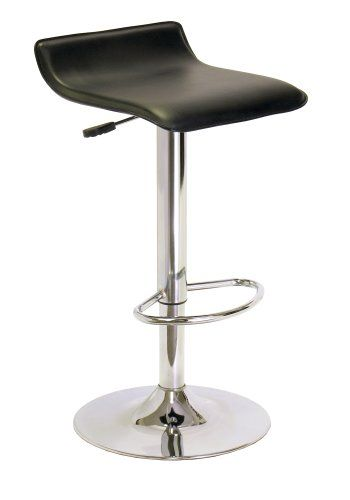 Winsome Spectrum ABS Airlift Swivel Stool, Faux Leather