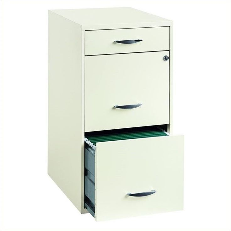 Lowest price online on all 3 Drawer Steel File Cabinet in White - 19157