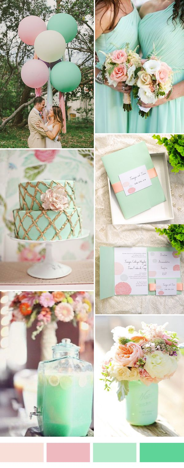 Pink And Mint Wedding Color Inspiration