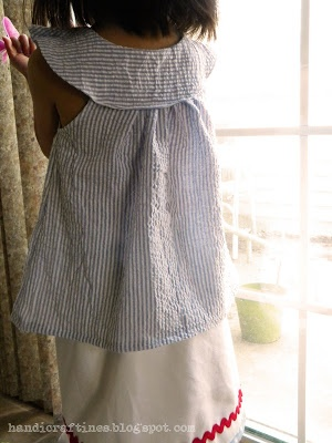 Easy DIY Girl's Tunic and Pleated Wrap Skirt