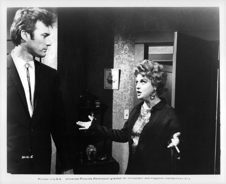 Clint Eastwood and Betty Field in Coogan's Bluff (1968)