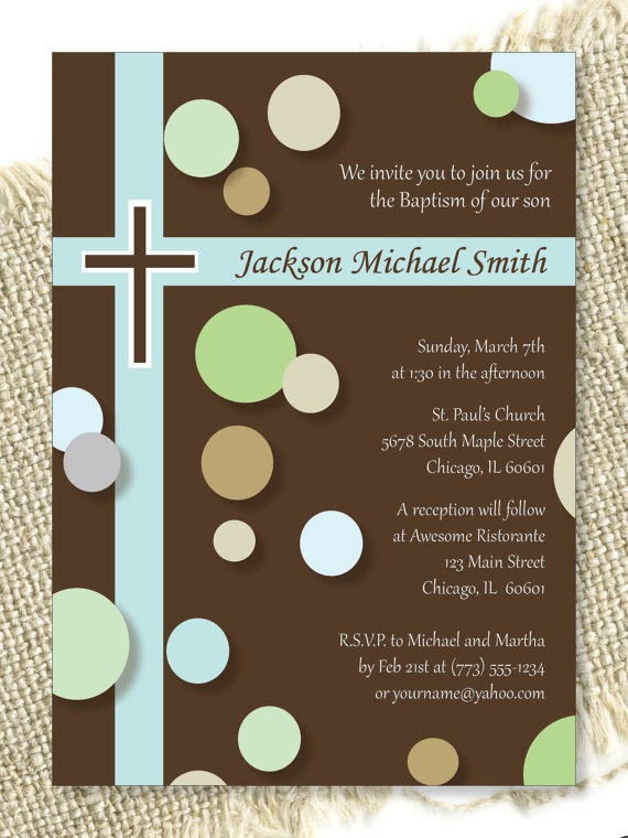 Bubbles Baptism Invitation by StylesbyChristina on Etsy, $15.00