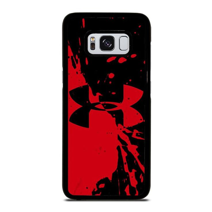 UNDER ARMOUR LOGO RED BLACK Samsung Galaxy S4 S5 S6 S7 S8 S9 Edge Plus Note 3 4 5 8 Case Cover