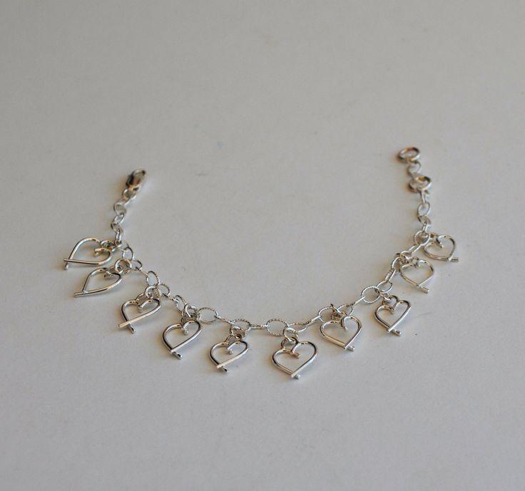 Bracelet Sweetheart en argent sterling by Atelierdekatou on Etsy