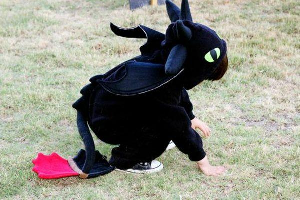 Kostüme Faschingszeit Jungen Drachen selber nähen