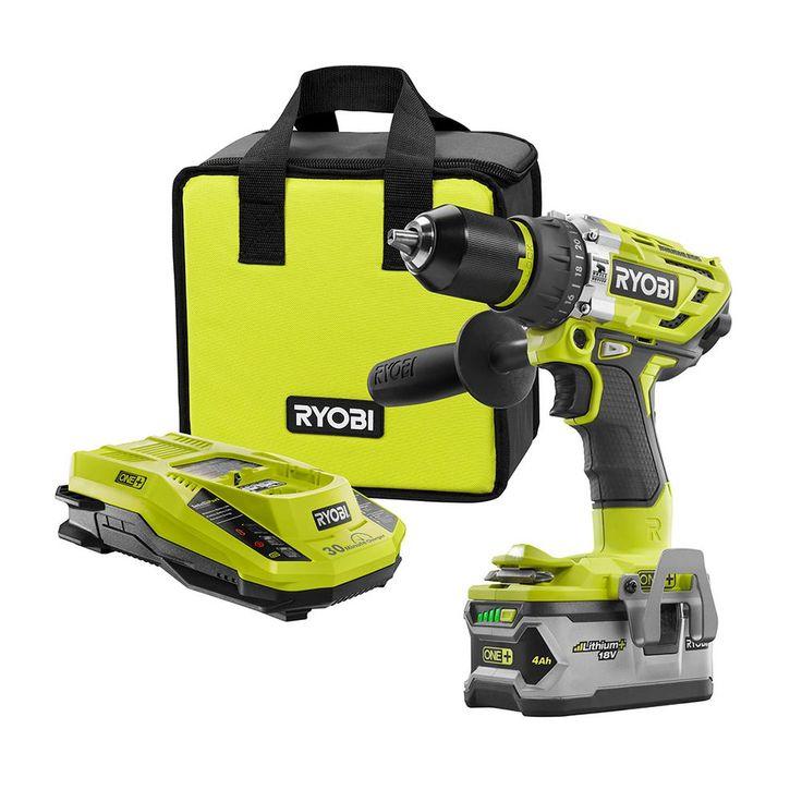 Ryobi 18-Volt ONE+ Brushless Hammer Drill Kit-P1813 - The Home Depot