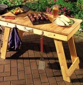 Folding Grill Table By Midwestclassiccrafts On Etsy Or Possibly Made Of  Recycled Pallets?