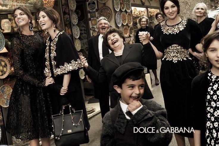 Monica Bellucci, Bianca Balti & Bianca Brandolini для Dolce & Gabbana Fall Winter 2013