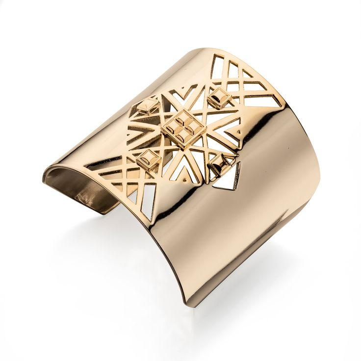 Designer Large Gold Cut Out Pattern Cuff Bangle by Fiorelli - From the new Fiorelli Costume Autumn Winter collection, this statement bracelet is all about making the ordinary extraordinary. Produced from white or yellow alloy, this piece comes packaged in a beautiful Fiorelli gift pouch: http://ow.ly/XA1Me