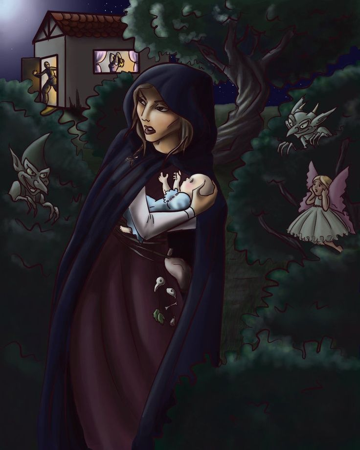 Fairytale Witch The Witch Took Baby Rapunzel Away