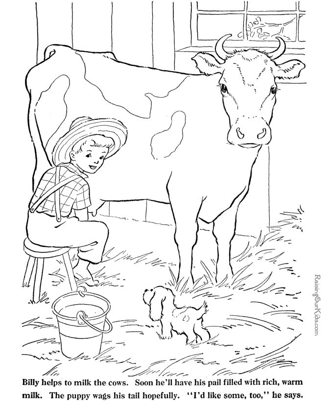 Farm Animal coloring page - Cow to print and color