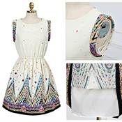 Import By Arc Art - Gratis Porto!! Den nye trykning mode kjole