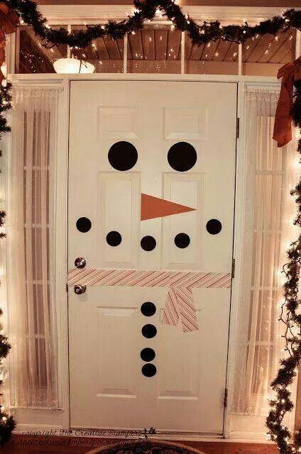 Snowman door too cute!