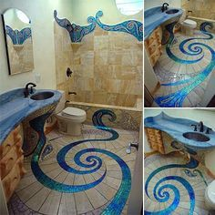 Beautiful Mosaic Bathroom Tile Design, its awesome