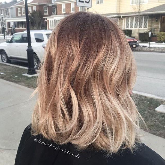 Blonde hair color #blondehair #balayage